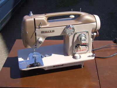 white sewing machine model 764