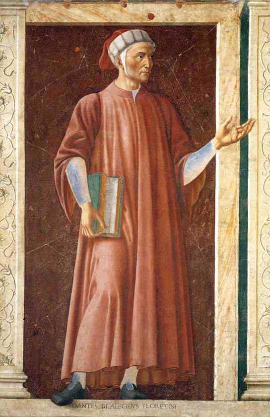 Andrea Del Castagno Dante Portrait Andrea Del Castagno Dante